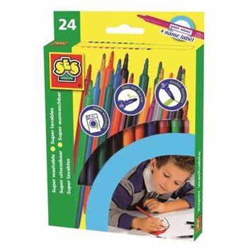 Set Markere 24 Culori cu 2 Varfuri