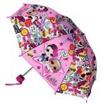 Umbrela LOL Surprise pliabila in husa pentru copii cu Emoji