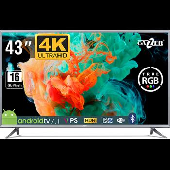 Televizor GAZER LED Smart TV43-US2G 108cm Ultra HD 4K Android Black