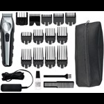 Trimmer pentru tuns/aranjat barba WAHL Li-Ion Total Beard Grooming Kit, Made in USA, autonomie 3h, Negru-argintiu