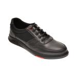 Pantofi OTTER negri, TUNA2, din material textil si piele naturala