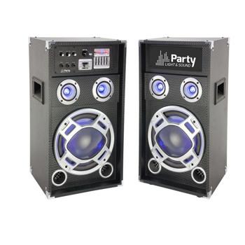Set 2 boxe karaoke 1 activ + 1 pasiv 10 inch/25cm 400w rms bt/sd/aux karaoke10