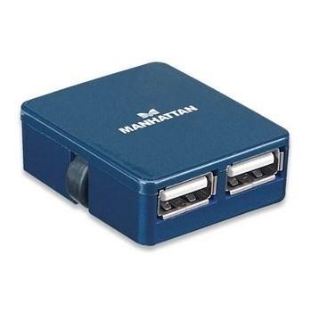 Hub USB Manhattan Micro blue 4 porturi 160605