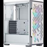 Carcasa Corsair iCUE 220T RGB Airflow Mid Tower ATX Smart Case, TG, White