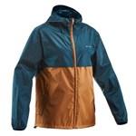 Jachetă impermeabilă drumeție în natură NH100 Maro/ Albastru Bărbați QUECHUA