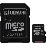Card memorie Kingston Micro SDXC Canvas Select, 128GB Clasa 10 UHS-I + Adaptor SD