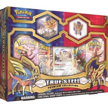 Pokemon Trading Card Game True Steel Premium Figure & Pin Collection Zamazenta