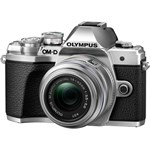 Aparat foto Mirrorless Olympus E-M10 Mark III 16.1 MP Argintiu + Obiectiv Foto Olympus EZ-M1442 IIR Argintiu v207071se000