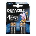 Baterie Duracell Turbo Max AAA LR03, 4buc