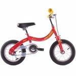 """Bicicleta Pegas Soim EV 12"""", 2in1 pentru copii, Rosu"""