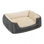 FEANDREA, pat câini și pisici, M, pernă detașabilă cu 2 fețe, gri închis, 70 x 55 x 21 cm