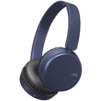 Casti JVC HA-S35BT-A-U, Bluetooth, On-Ear, Microfon, albastru