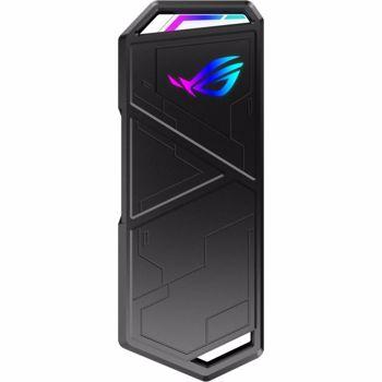 Rack extern ASUS ROG Strix Arion compatibil SSD NVMe M.2 - USB 3.2 GEN2 Type-C doua cabluri incluse USB-C la C si USB-C la A esd-s1c/blk/g/as