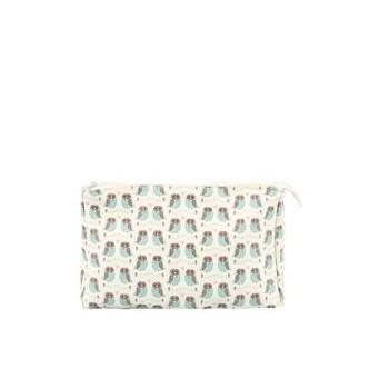 Geanta pentru cosmetice cu bufnite de padure, Sass & Belle - crem