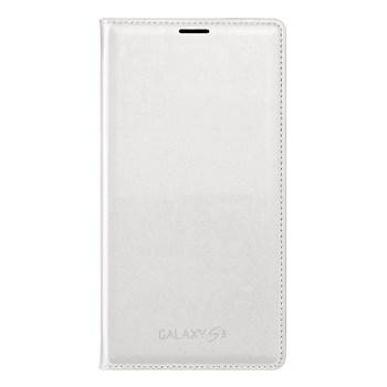 Husa Samsung Flip Wallet EF-WG900BWEGWW pentru Galaxy S5, Alb