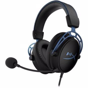 Casti Gaming HyperX Cloud Alpha S Blue, 7.1 surround, 3.5mm, negru-albastru
