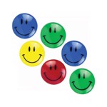 Magneti Smiley Face 30 mm, multicolor, set 6 bucati