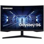 Monitor Curbat Gaming LED 27 Samsung Odyssey G5 WQHD DisplayPort 1ms 144Hz FreeSync Negru lc27g55tqwuxen