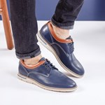 Pantofi Piele Toledo albastru mat comozi