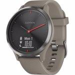 Ceas smartwatch Garmin Vivomove HR Sport, Sandstone Silicon Band, Black