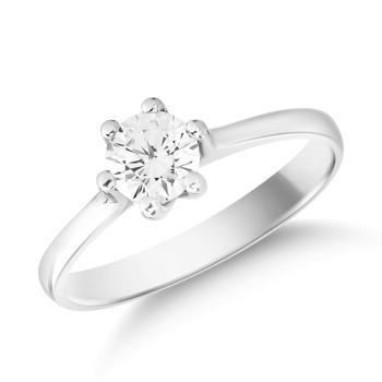 Inel de logodna din aur alb de 14K