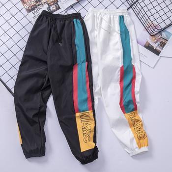 Pantaloni sport de vara pentru barbati, subtiri ?i cool, cu elastic in talie ?i la glezne