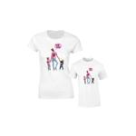 Set de tricouri pentru mama ?i copil Mom Life Pink SA635