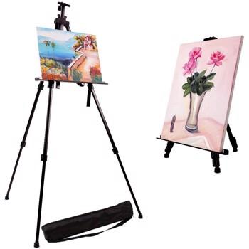 Trepied pentru sevalet pictura, inaltime reglabila 50-150 cm, husa inclusa