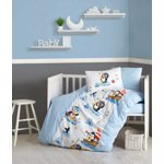 Set de pat pentru copii Cotton Box, 129CTN3019, bumbac ranforce 100 procente, 120 x 150 cm