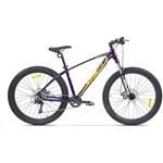 """Bicicleta Pegas MTB Fat Bike Drumuri Grele 17"""", Mov/Galben"""