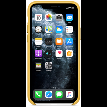 Protectie Spate Apple mwya2zm/a pentru Apple iPhone 11 Pro (Galben)