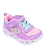 Pantofi sport SKECHERS mov, Heart Lights, din material textil si piele ecologica