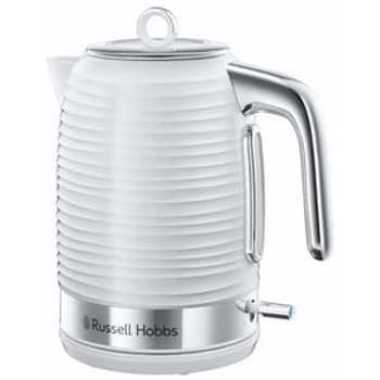 Fierbator Russell Hobbs Inspire White 24360-70, 2400 W, 1.7 l, Fierbere rapida, Alb/Inox
