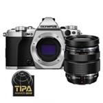 Olympus OM-D E-M5 Mark II Aparat Foto Mirrorless 16MP MFT Full HD Kit cu Obiectiv 12-40mm F2.8 Argintiu / Negru