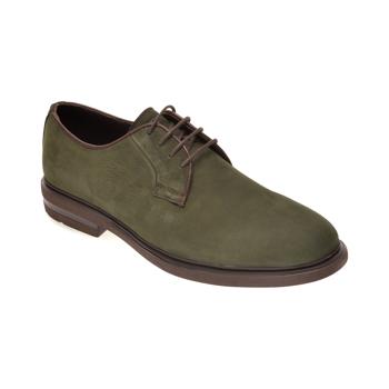 Pantofi OTTER verzi, E1801, din nabuc