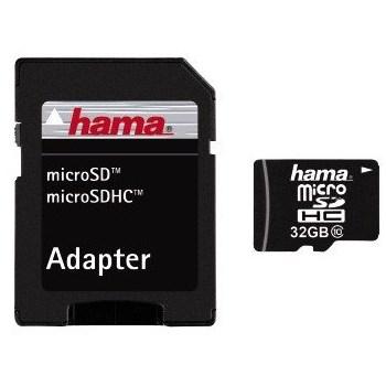 Card memorie Hama 108089 Micro SDHC 32GB, class 10 + adaptor SD