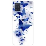 Husa Silicon Soft Upzz Print Samsung Galaxy A51 Model Blue Butterfly