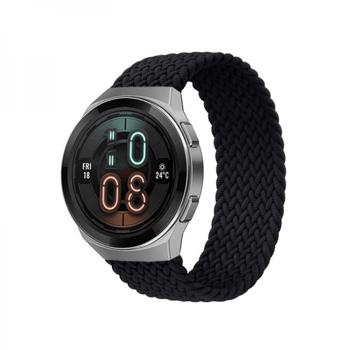 Curea elastica strech din nylon universala 22mmpentru Huawei Watch GT / GT2 Samsung Galaxy Watch 42 / 46mm negru