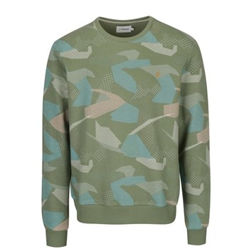 Bluza verde deschis cu print army abstract Farah Fierly