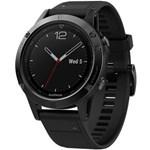Ceas smartwatch Fenix 5 Sapphire, HR, GPS, Black Sapphire