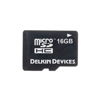 Delkin MicroSDHC 16GB - card de memorie + adaptor