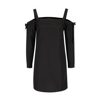 Bluza neagra Miss Selfridge cu imprimeu pe umeri