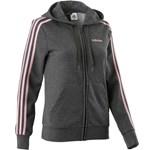 Jachetă 3 benzi gri/roz damă ADIDAS