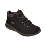 Pantofi SKECHERS negri, ULTRA FLEX JUST CHILL, din nabuc