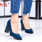 Pantofi Piele dama albastri Tenemisa-rl