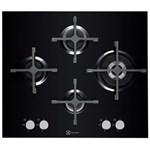 Electrolux Plita incorporabila Design X-line EGT6343LOK, gaz, 4 arzatoare, aprindere electrica, sticla neagra