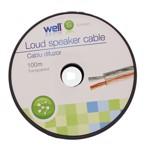 Cablu difuzor transparent 2X0.75, 100m, Well; Cod EAN: 5948636006698