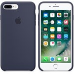 Husa de protectie Apple pentru iPhone 8 Plus / iPhone 7 Plus, Silicon, Midnight Blue