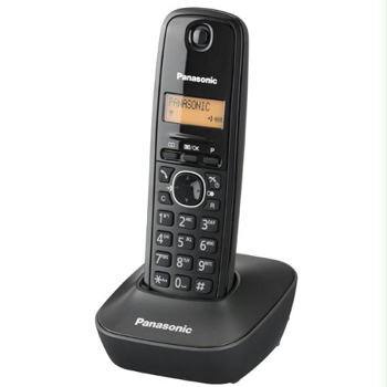 Telefon fara fir DECT Panasonic KX-TG1611FXH, Caller ID, Agenda 50 contacte, Iluminare display, Negru