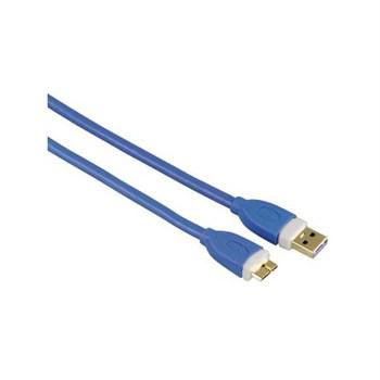 Cablu micro USB 3.0 HAMA 39682, 1.8m, albastru
